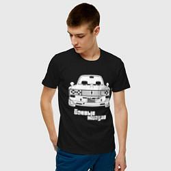 Футболка хлопковая мужская Боевые жигули Ваз 2106 цвета черный — фото 2