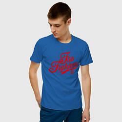 Футболка хлопковая мужская Foo Fighters 95 цвета синий — фото 2
