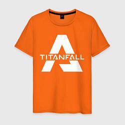 Футболка хлопковая мужская Apex Legends x Titanfall цвета оранжевый — фото 1