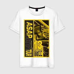Футболка хлопковая мужская ASAP Rocky: Place Bell цвета белый — фото 1