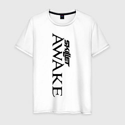 Мужская хлопковая футболка с принтом Skillet Awake, цвет: белый, артикул: 10017327800001 — фото 1