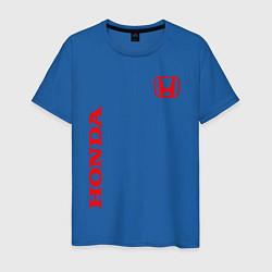 Мужская хлопковая футболка с принтом HONDA, цвет: синий, артикул: 10173934500001 — фото 1