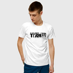Футболка хлопковая мужская ESCAPE FROM TARKOV цвета белый — фото 2