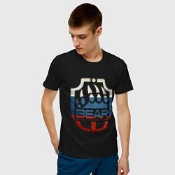 Футболка хлопковая мужская Escape from Tarkov BEAR цвета черный — фото 2
