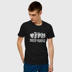 Футболка хлопковая мужская Deep Purple цвета черный — фото 2