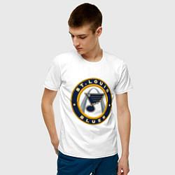 Футболка хлопковая мужская St Louis Blues цвета белый — фото 2