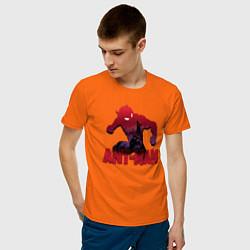 Футболка хлопковая мужская Ant-man цвета оранжевый — фото 2