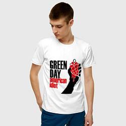 Футболка хлопковая мужская Green Day: American idiot цвета белый — фото 2