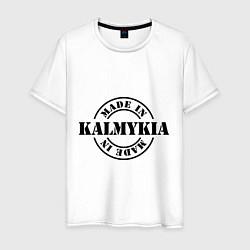 Футболка хлопковая мужская Made in Kalmykia цвета белый — фото 1
