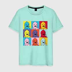 Футболка хлопковая мужская Граф Лимонхват pop-art цвета мятный — фото 1