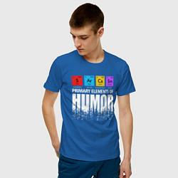 Футболка хлопковая мужская Sarcasm цвета синий — фото 2