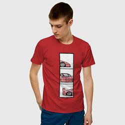 Футболка хлопковая мужская F40 TRIPLE цвета красный — фото 2