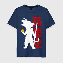 Футболка хлопковая мужская Dragon Ball Goku цвета тёмно-синий — фото 1
