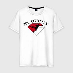 Футболка хлопковая мужская El Cucuy на спине цвета белый — фото 1