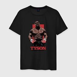 Футболка хлопковая мужская Tyson цвета черный — фото 1