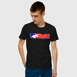 Футболка хлопковая мужская LIMP BIZKIT цвета черный — фото 2