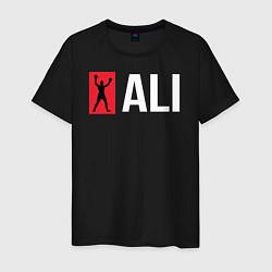 Футболка хлопковая мужская ALI цвета черный — фото 1