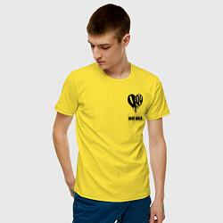 Футболка хлопковая мужская JUICE WRLD цвета желтый — фото 2