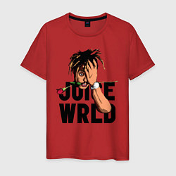Футболка хлопковая мужская Juice WRLD цвета красный — фото 1