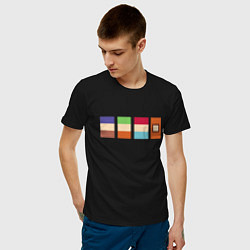 Футболка хлопковая мужская ЮЖНЫЙ ПАРК цвета черный — фото 2