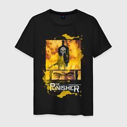 Футболка хлопковая мужская The Punisher цвета черный — фото 1
