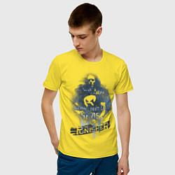 Футболка хлопковая мужская The Punisher цвета желтый — фото 2