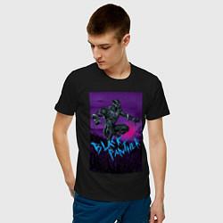 Футболка хлопковая мужская Черная Пантера Мстители цвета черный — фото 2