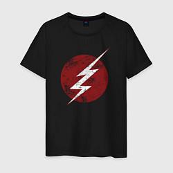Футболка хлопковая мужская The Flash logo цвета черный — фото 1
