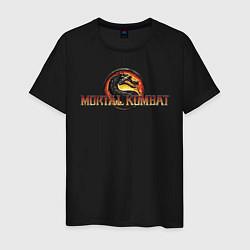 Футболка хлопковая мужская Mortal Kombat цвета черный — фото 1