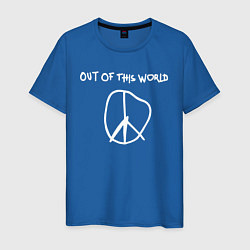 Мужская хлопковая футболка с принтом TRAVIS SCOTT, цвет: синий, артикул: 10220306900001 — фото 1