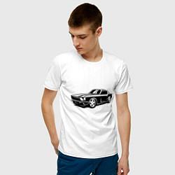 Футболка хлопковая мужская Ford Mustang Z цвета белый — фото 2