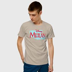 Футболка хлопковая мужская Mulan Disney цвета миндальный — фото 2