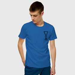 Футболка хлопковая мужская HELLTAKER цвета синий — фото 2