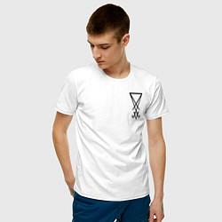 Футболка хлопковая мужская HELLTAKER цвета белый — фото 2