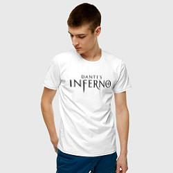 Футболка хлопковая мужская Ад Данте цвета белый — фото 2