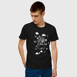 Футболка хлопковая мужская Каир Древний Египет цвета черный — фото 2