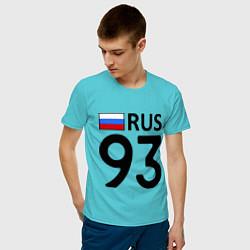 Футболка хлопковая мужская RUS 93 цвета бирюзовый — фото 2