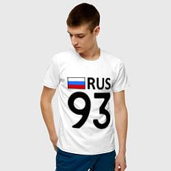 Футболка хлопковая мужская RUS 93 цвета белый — фото 2