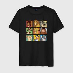 Футболка хлопковая мужская The Lion King Characters цвета черный — фото 1