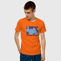 Футболка хлопковая мужская Джинн цвета оранжевый — фото 2