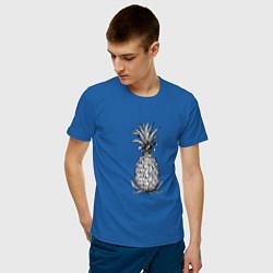 Мужская хлопковая футболка с принтом Ананас Моргенштерна, цвет: синий, артикул: 10271440700001 — фото 2