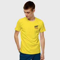 Футболка хлопковая мужская Dewey Team цвета желтый — фото 2