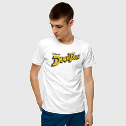 Футболка хлопковая мужская Ducktales цвета белый — фото 2