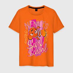 Футболка хлопковая мужская Nemos Surf School цвета оранжевый — фото 1