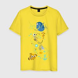 Футболка хлопковая мужская В Поисках Немо цвета желтый — фото 1