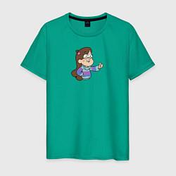 Мужская хлопковая футболка с принтом Мэйбл Пайнс, цвет: зеленый, артикул: 10275094900001 — фото 1
