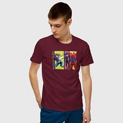 Футболка хлопковая мужская Big Hero 6 цвета меланж-бордовый — фото 2
