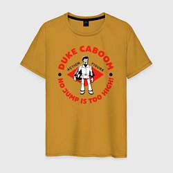 Футболка хлопковая мужская Duke Caboom цвета горчичный — фото 1