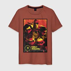 Футболка хлопковая мужская The Incredibles цвета кирпичный — фото 1
