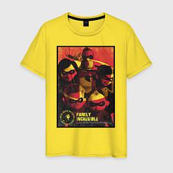 Футболка хлопковая мужская The Incredibles цвета желтый — фото 1